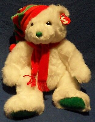 "TY CLASSIC PLUSH - MERRY the 13""  BEAR – MINT with MINT TAG"