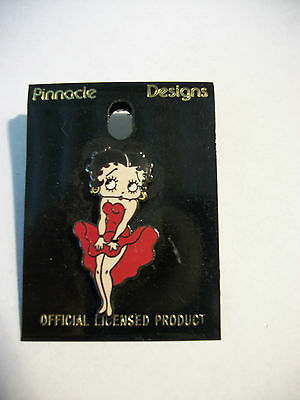 Betty Boop Enamel Red Dress Pendant