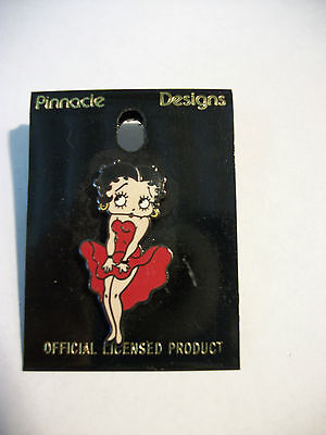 Betty Boop Enamel Red Dress Pin.