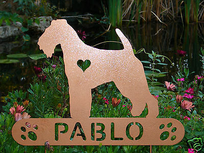 Welsh Terrier Garden Plaque PET MEMORIAL Yard Stake Personalized Dog Canine