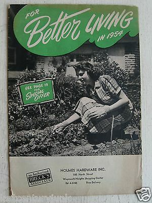 Better Living In 1954 Garden Catalog Breck's Associate Holmes Hardware