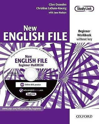 OXFORD NEW ENGLISH FILE Beginner Workbook without Key+MultiROM 9780194518727 NEW