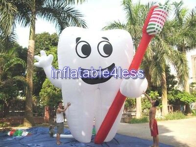 20' Inflatable Tooth Advertising Dentist Ad Health Promotion