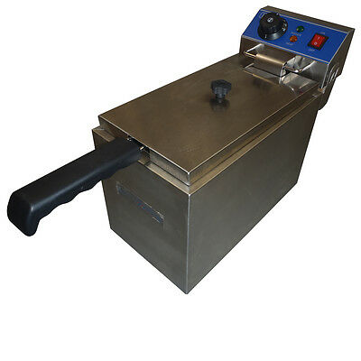 Brand New Commercial 8L Single Electric Deep Fryer 201 Stainless Steel Benchtop