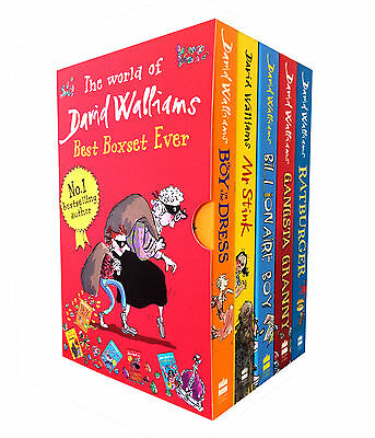 David Walliams Collection 5 Books Box Set Gansta Granny Rat burger Mr Stink
