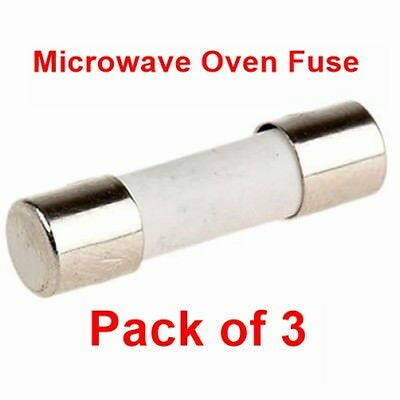Pack Of 3, Microwave Oven 12 Amp 20 mm Ceramic Fuse Fuses 12A