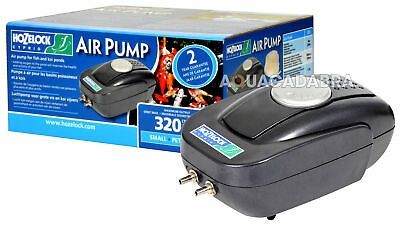 Hozelock Air Pump A320 + Airline + Airstones Fish Pond Weatherproof Outdoor