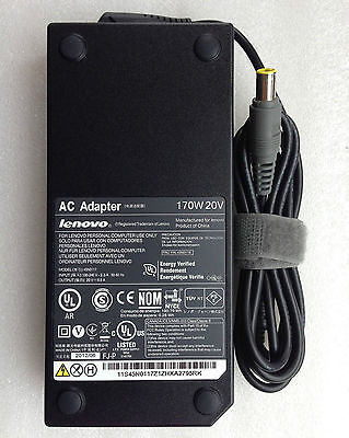 170W AC Adapter Charger for Lenovo ThinkPad P51 20HH003YUS 20HH0040US 20HH0041US