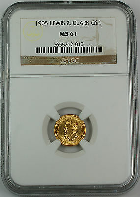 1905 Lewis & Clark Commemorative $1 Gold Coin, NGC MS-61