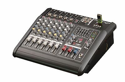 2000 Watts 6 Channel Professional Powered Mixer power mixing Amplifier Amp NEW