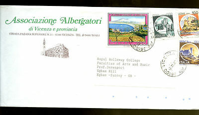 Italy 1987 Cover To UK #C1930