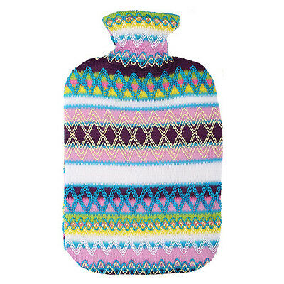 Germany Made Fashy 2 L Hot Water Bottle W/ Color Sweater Cover 6757 -Blue