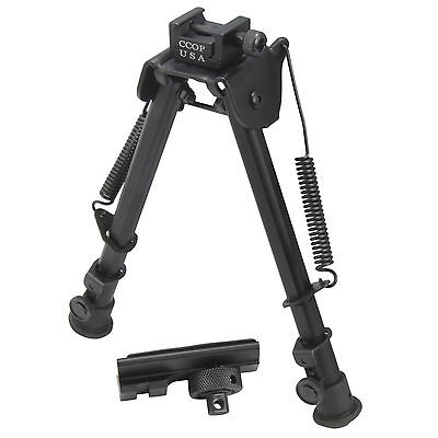 "CCOP 9"" Universal Picatinny Rail Mount Adjustable Tactical Rifle Bipod BP-79M"