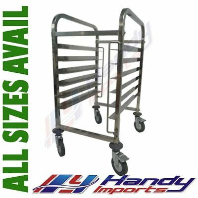 STAINLESS STEEL BAKERY GASTRONORM RACK TROLLEY BAKER BUN DOUGH 12 x 40X60 PAN E0