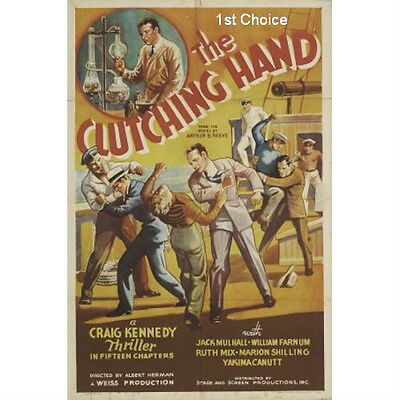 The Clutching Hand - Cliffhanger Serial DVD Jack Mulhall Constance Moore Robert
