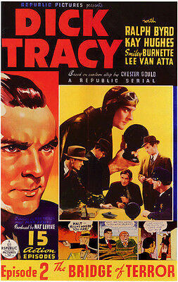 Dick Tracy - Classic Movie Cliffhanger Serial DVD Ralph Byrd Smiley Burnette