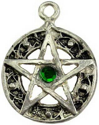 CELTIC KNOT PENTAGRAM PENDANT PEWTER WITH CORD Wicca Pagan Witch Goth  Pentacle