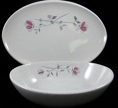 """Franciscan DUET 13"""" Oval Platter & 8"""" Oval Vegetable Bowl EXCELLENT CONDITION"""