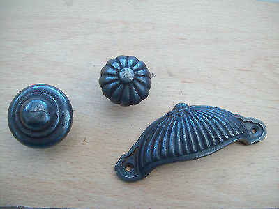 Cast Wrought Iron Kitchen Cupboard Drawer Cabinet Door Fancy Knobs Handles