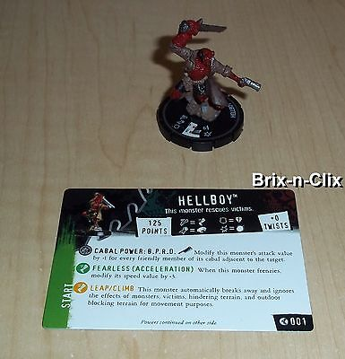 Horrorclix Heroclix Hellboy BPRD Action Pack #001 Hellboy Unique NEW USA!