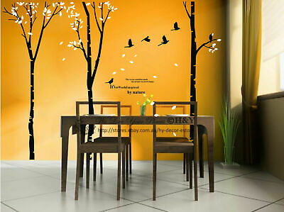 Mega Bird Tree Wall Art Sticker Removable Vinyl Decal Mural Quote Home Decor DIY