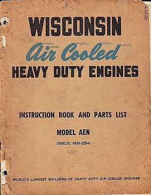 WISCONSIN SERVICE MANUAL for MODEL AEN - 1949