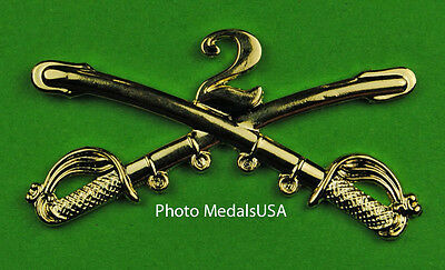 2nd Cavalry Crossed Sabers Large Hat Pin