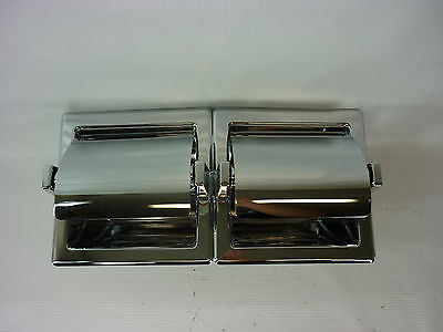 Case Of Ten Chrome Twin Toilet Paper Holder Franklin Brass Liberty 619 New