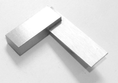 """2"""" Square 90º Right Angle Steel Square Measure Layout Hobby Model Craft Projects"""