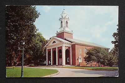 1960s Chapel Wabash College Crawfordsville IN Montgomery Co Postcard Indiana