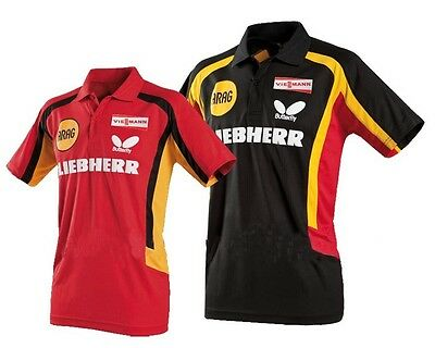 2012 New butterfly Mens Badminton / Tennis Polo Shirts colour:red/black