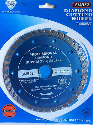 "5"" (125mm) Turbo Diamond Cutting Disc. Diamond Saw Blade. Diamond Blade"