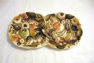 Vintage Lefton Fruits of Italy Serving Tray Candy Dish