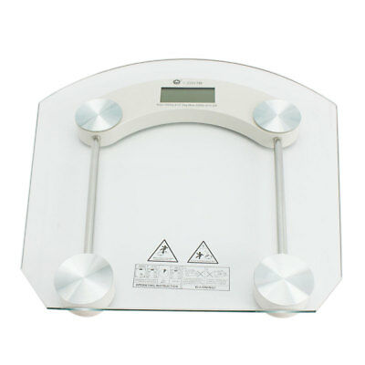 New Digital LCD Glass Electronic Weight Body Bathroom Health Scale