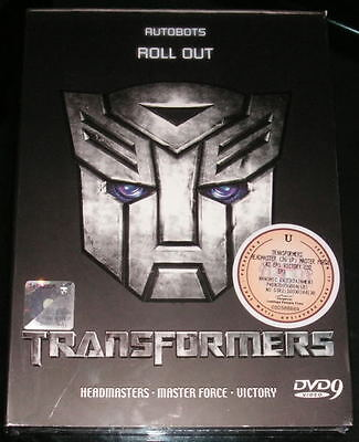 DVD Transformers Headmasters Master Force Victory English Version
