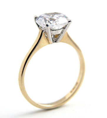 Engagement Ring 2ct Solitaire Diamond-Unique 9ct Gold