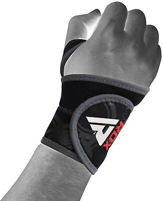 RDX Pro Neoprene Silicon Wrist Thumb Brace Support Gym Weight Lifting Black Wrap