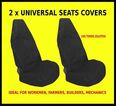 LAND ROVER DISCOVERY FREELANDER 2x FRONT CAR SEAT PROTECTORS COVERS