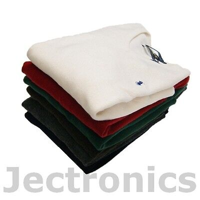 New Ralph Lauren Polo Mens 100% Lambswool V Neck Sweater- Many Colors Available