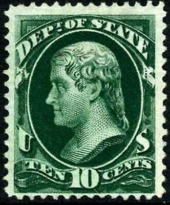 US O62 Mint No Gum 10c State Dept. Official from 1873
