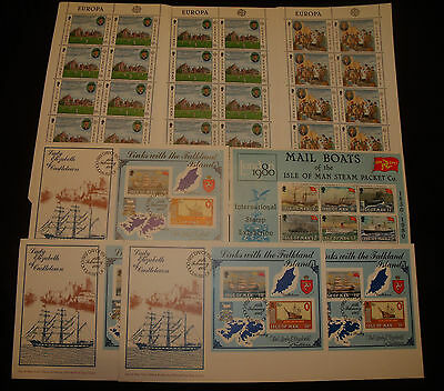 fine lot Isle on man stamp sheet first day cover mint NH