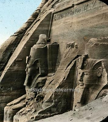 Old Photo. Egypt. Façade of the Temple of Abu Simbel