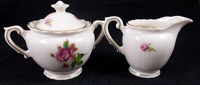 Syracuse VICTORIA Creamer and Sugar Bowl with Lid GREAT CONDITION