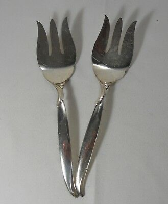 International Silver Flair Silverplate Pair of Cold Meat Forks