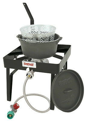 Bayou Clic Sq59 Outdoor Patio Stove Fish Cooker Propane Cast Iron Fry Pot