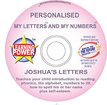 PERSONALISED LEARN TO SPELL NAME & READ/READING KIDS Alphabet & Numbers Software