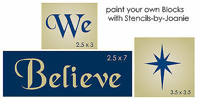 STENCIL We Believe Nativity Star Bethlehem Primitive Christian Christmas Signs
