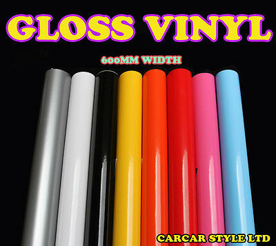 【Gloss 0.6m(23.6in)x 3m(118in)】Vehicle Wrap Vinyl Sticker Film Sheet ALL COLOUR