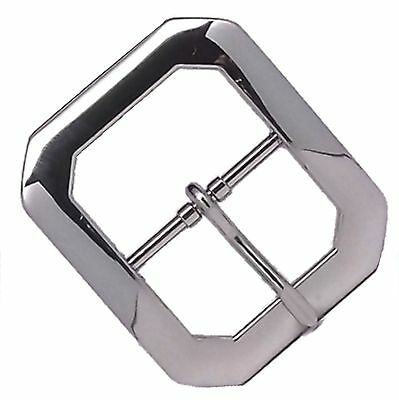 "Clipped Corner Nickel Plated Belt Buckle 1-1/2"" 1587-00 by Stecksstore"