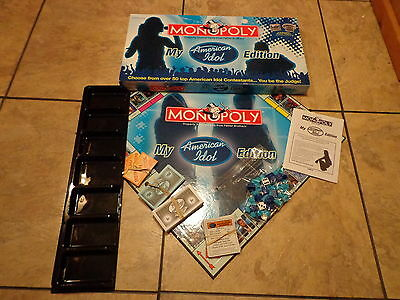 Monopoly--My American Idol--Board Game (Look) Collector's Edition